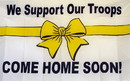 NEOPlex F-1142 We Support Our Troops 3'X 5' Economy Flag