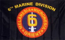 NEOPlex F-1158 Marines 6Th Division 3'X 5' Military Flag