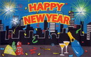 NEOPlex F-1271 Happy New Year Premium 3'X 5' Flag
