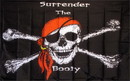 NEOPlex F-1280 Surrender The Booty Pirate Premium 3'X 5' Flag