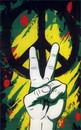 NEOPlex F-1285 Peace Graffiti Vertical Novelty 3'X 5' Flag