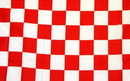NEOPlex F-1324 Checkered Red & White Poly 3'X 5' Flag