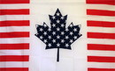 NEOPlex F-1332 Usa Canada Friendship 3'X 5' Flag
