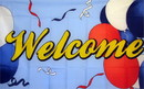 NEOPlex F-1436 Welcome Balloons 3'X 5' Flag