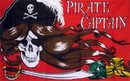 NEOPlex F-1441 Pirate Captain Red With Gold 3'X 5' Flag