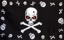 NEOPlex F-1446 Skull & Crossbones Red Eyes 3'X 5' Flag