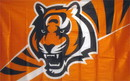 NEOPlex F-1493 Cincinnati Bengals Face Stripes 3'X 5' Nfl Flag