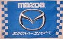 NEOPlex F-1515 Mazda Zoom-Zoom Checkered Automotive 3' X 5' Flag