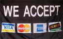 NEOPlex F-1523 We Accept Visa Mc Amex Discover 3'X 5' Flag