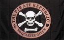NEOPlex F-1529 Pirate Republic Red Circle 3'X 5' Flag
