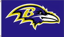 NEOPlex F-1709 Baltimore Ravens Logo Only 3'X5' Flag