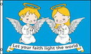 NEOPlex F-1748 Let Your Faith Light The World 3'X 5' Flag