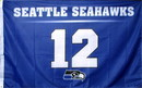 NEOPlex F-1891 Seattle Seahawks 12Th Man 3'X 5' Nfl Flags