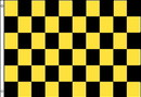 NEOPlex F-2105 Checkered Black & Yellow Poly 3'X 5' Flag