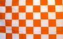 NEOPlex F-2106 Checkered Orange & White Poly 3'X 5' Flag