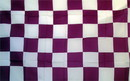 NEOPlex F-2107 Checkered Purple & White Poly 3'X 5' Flag