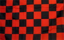NEOPlex F-2108 Checkered Red & Black Poly 3'X 5' Flag