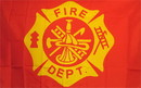 NEOPlex F-2176 Fire Department 3'X 5' Novelty Flag