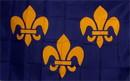 NEOPlex F-2187 Fleur De Lis 3 Blue 3'X 5' Historical Flag