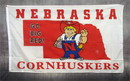 NEOPlex F-2641 Nebraska Huskers White 3'X 5' College Flag