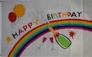 NEOPlex F-2724 Happy Birthday Rainbow Party Poly 3' X 5' Flag