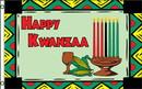 NEOPlex F-2733 Happy Kwanzaa W/Graphics Poly 3' X 5' Flag