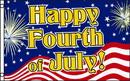 NEOPlex F-2753 Happy Fourth Of July Patriotic Poly 3' X 5' Flag