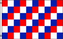 NEOPlex F-2797 Checkered Red / Blue / White Poly 3' X 5' Flag
