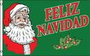 NEOPlex F-2798 Feliz Navidad Green W/ Santa Poly 3' X 5' Flag