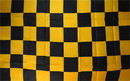 NEOPlex F-2825 Checkered Black/Orange 3'X5' Poly Flag