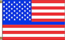 NEOPlex F-2862 Blue Line Usa Red 3'X5' Poly Flag