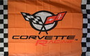 NEOPlex F-2869 Corvette Racing Orange 3'X5' Poly Flag