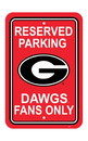 NEOPlex K50221 Georgia Bulldogs Parking Sign