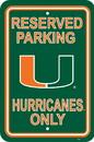 NEOPlex K50238 Miami Hurricanes Parking Sign