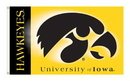 NEOPlex K92024-IOWA Iowa Hawkeyes Double Sided 3'X 5' College Flag