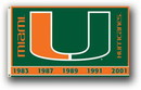 NEOPlex K92031 Miami Hurricanes 3'X 5' Double Sided Flag