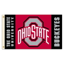 NEOPlex K92055-OHIO-STATE Ohio State Buckeyes 3'X 5' Double Sided Flag