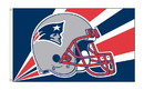 NEOPlex K94211B New England Patriots Helmet Design 3'X 5' Nfl Flags