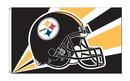 NEOPlex K94213B Pittsburgh Steelers Helmet Design 3'X 5' Nfl Flags