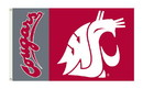 NEOPlex K95052 Washington State Cougars 3'X 5' College Flag