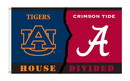 NEOPlex K95245 Alabama Crimson Tide/Auburn Tigers House Divided 3'X 5' College Flag