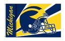 NEOPlex K95303 Michigan Wolverines Helmet 3'X 5' College Flag