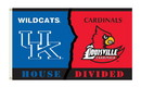 NEOPlex K95321 Kentucky Wildcats/Louisville Cardinals House Divided 3'X 5' College Flag