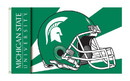 NEOPlex K95329 Michigan State Spartans Helmet 3'X 5' College Flag