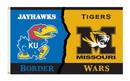 NEOPlex K95443 Kansas Jayhawks/Missouri Tigers House Divided 3'X 5' College Flag