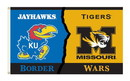 NEOPlex K95443 Kansas Jayhawks/Missouri Tigers House Divided 3'X 5' College Flag