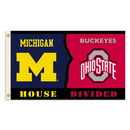 NEOPlex K95553 Michigan Wolverines/Ohio State House Divided 3'X 5' College Flag