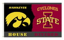 NEOPlex K95922 Iowa Hawkeyes/Iowa State House Divided 3'X 5' College Flag
