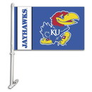 NEOPlex K97014 Kansas Jayhawks Double Sided Car Flag
