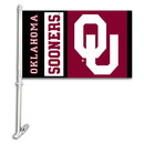 NEOPlex K97019 Oklahoma Sooners Double Sided Car Flag